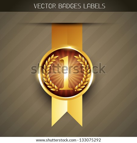 vector luxury no 1 label design