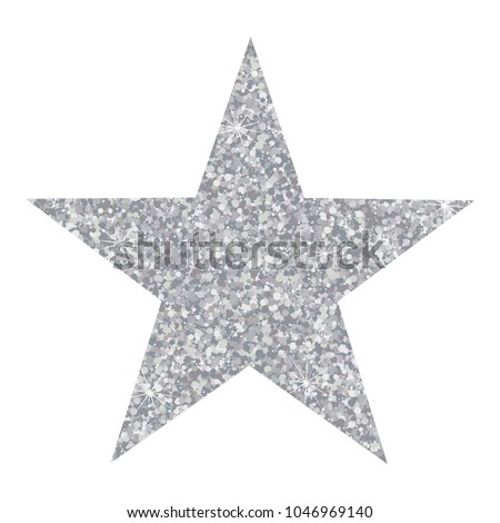 Stock Photo Vector luxury silver star. Element for advertising poster for restaurant, boutique and cafe, jewelry, fashion and party.