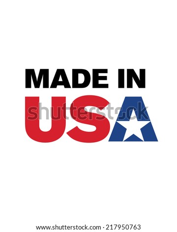 vector 'made in the usa' logo