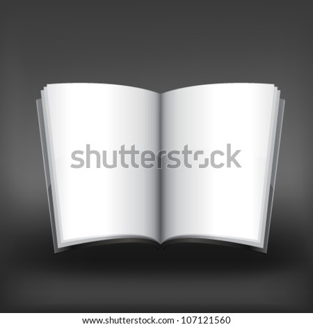 Vector magazine blank, page template for design on gray background