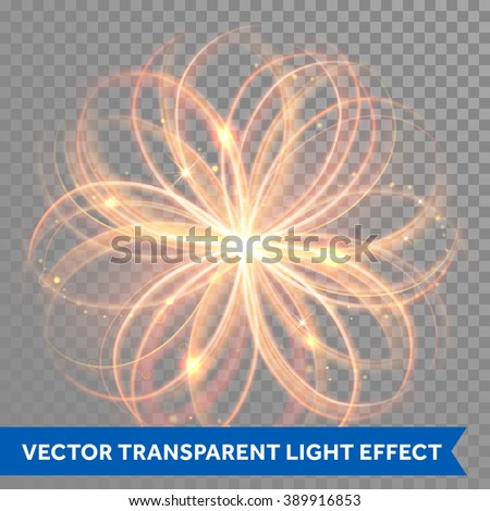 vector magic glowing light
