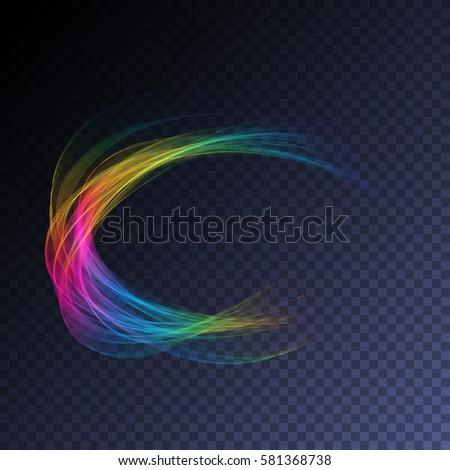vector magic glowing swirl