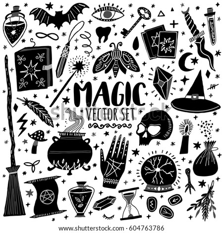 vector magic icons hand drawn