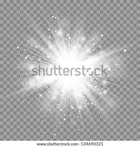 vector magic white rays glow