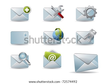 Vector mail icon set
