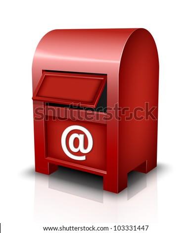 Vector Mailbox Icon - stock vector