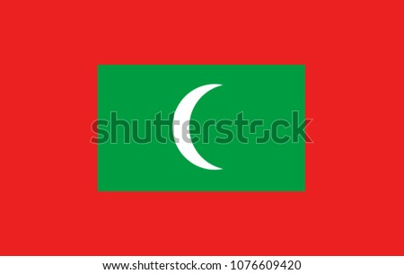 vector maldives flag  maldives