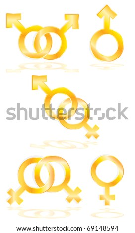 Vector Male and Female symbols