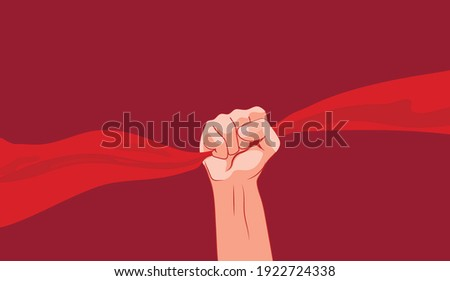 vector male fist flat image of