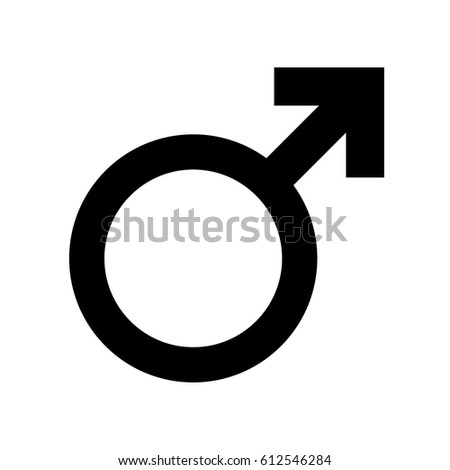 Vector male gender symbol #612546284