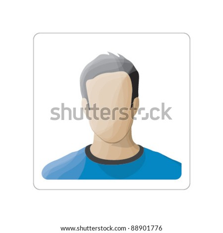 Vector Male Profile Image