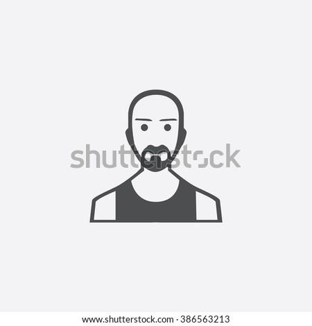 Vector man beard Icon