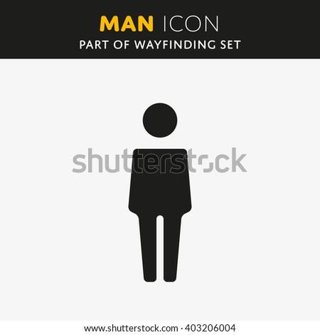 Vector Man icon. Male sign. Gentleman symbol.