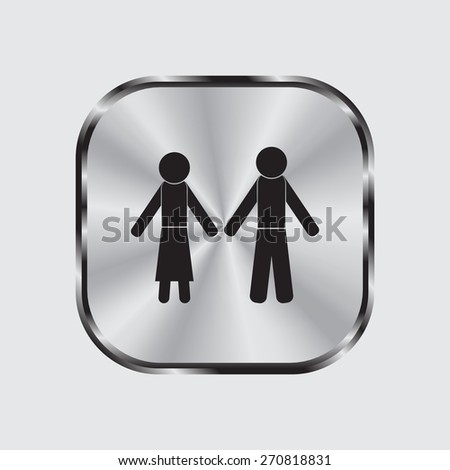 Vector Man & Woman restroom sign #270818831
