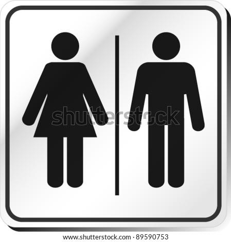 Vector Man & Woman restroom sign