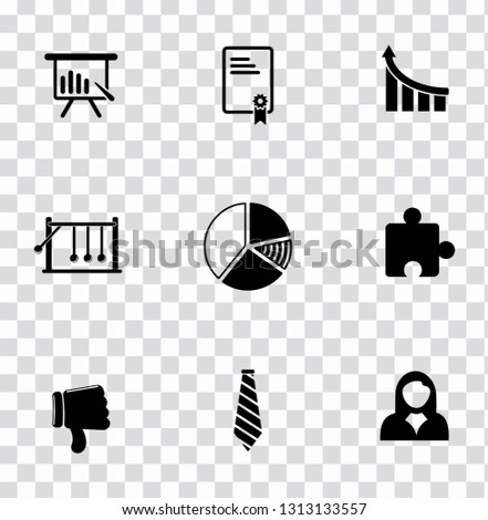 vector management icons set - business project sign symbols. office, teamwork, manager and organization icons