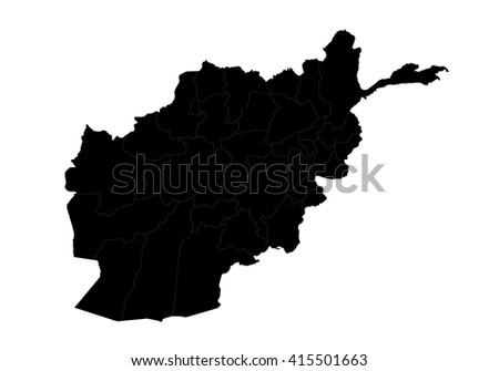 vector map   afghanistan