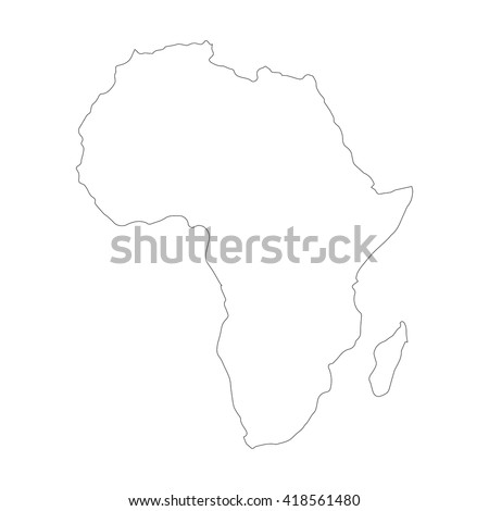 Vector Images, Illustrations and Cliparts: Vector map Africa ...