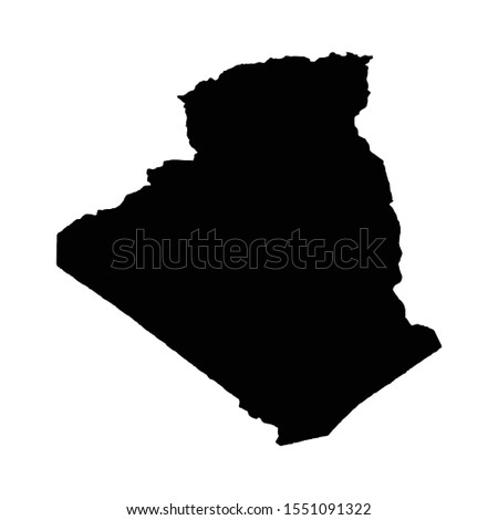 vector map algeria country and
