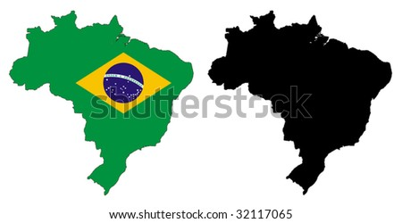 Brazil flag and map vectors download free vector art stock vector map and flag of brazil with white background gumiabroncs Choice Image