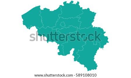 vector map belgium country