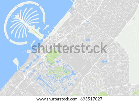 vector map dubai uae  palm