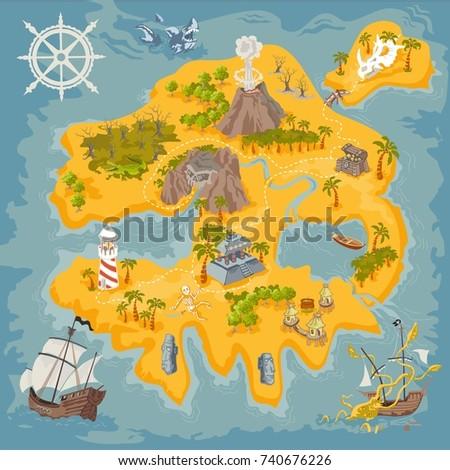 vector map elements of fantasy