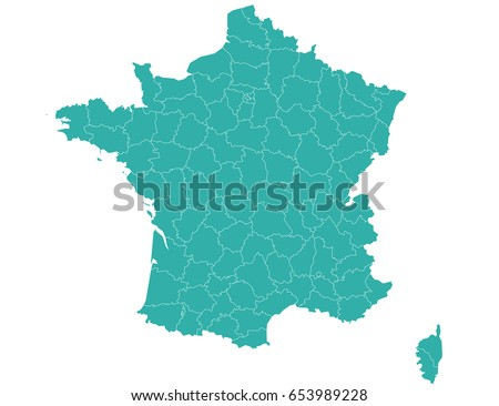 Vector map-france Departments country Photo stock ©