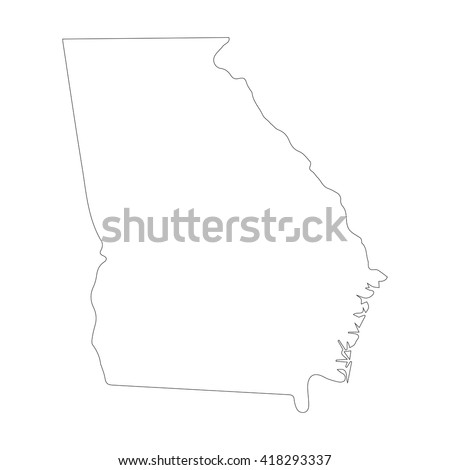 Map Of Georgia Outline.Royalty Free Stock Photos And Images Vector Map Georgia Outline