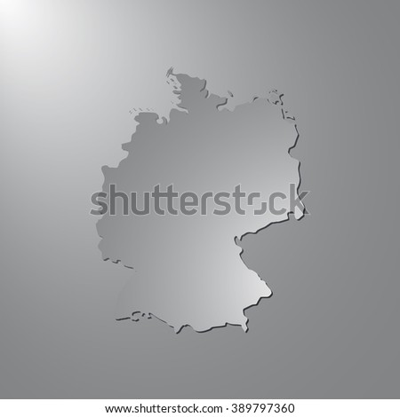 vector map germany gray