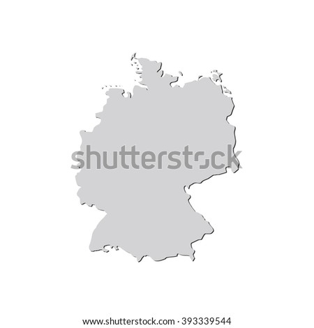 vector map germany isolated