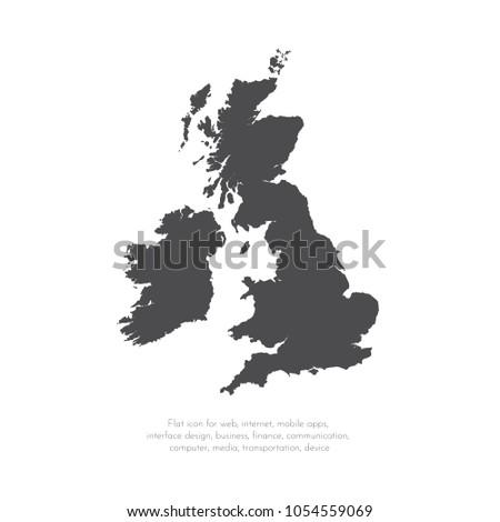 vector map great britain