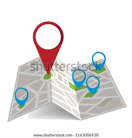 Vector map illustration #1163006938