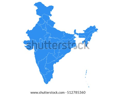 India map outline download free vector art stock graphics images vector map india country on white background gumiabroncs Gallery