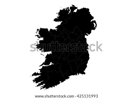 vector map ireland country on...