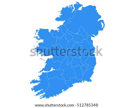 vector map ireland country on