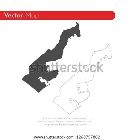 vector map monaco isolated