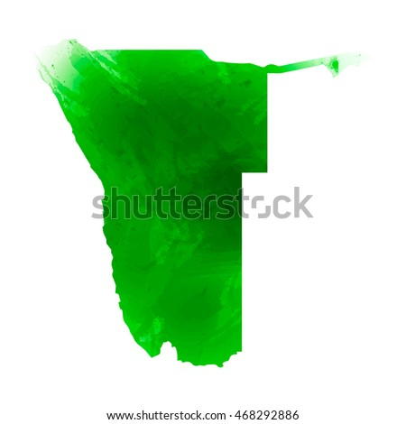 vector map namibia isolated