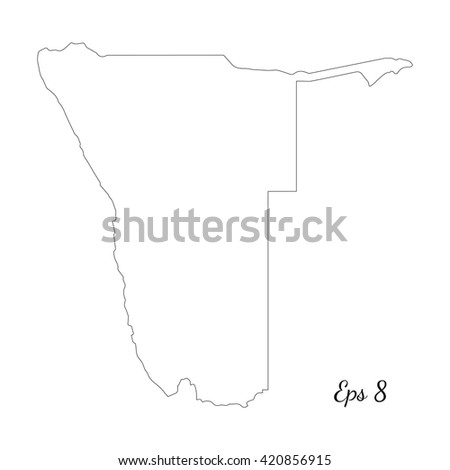 vector map namibia outline map