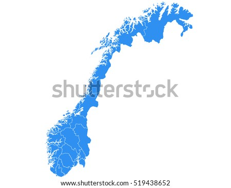 vector map norway country