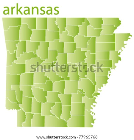 vector map of arkansas