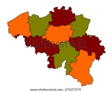 vector map of belgium