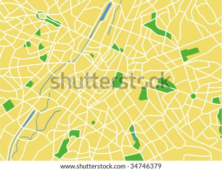 Vector map of brussels.