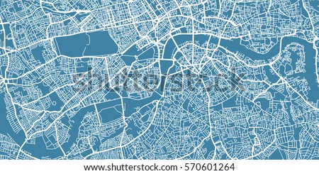 vector map of  center of london