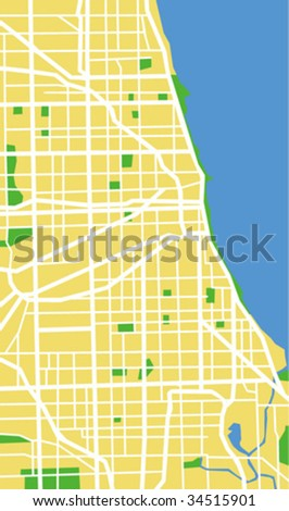 vector map of Chicago.