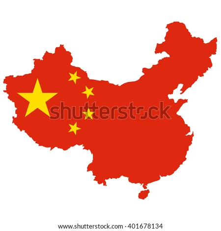 vector map of china flag