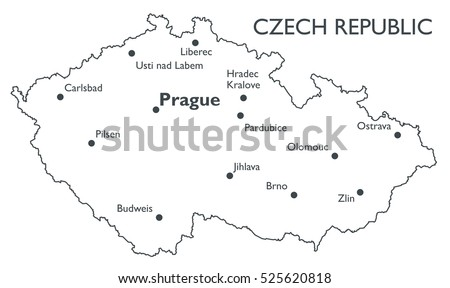 Free Czech Republic Map Vector Download Free Vector Art Stock