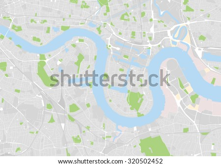 vector map of east central london docklands greenwich