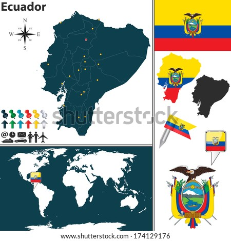 Ecuador Vector Map Vector Map of Ecuador With