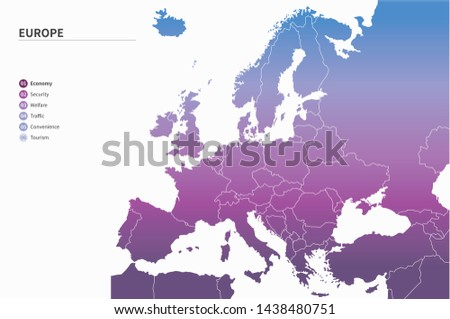 vector map of europe countries